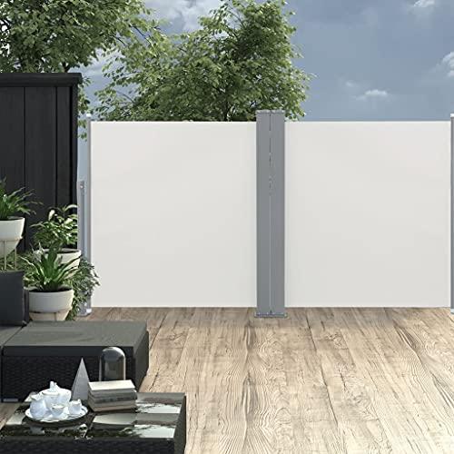 vidaXL Doppel-Seitenmarkise 170×600 cm Schwarz - 4