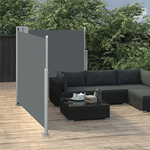vidaXL Doppel-Seitenmarkise 170×600 cm Schwarz - 5