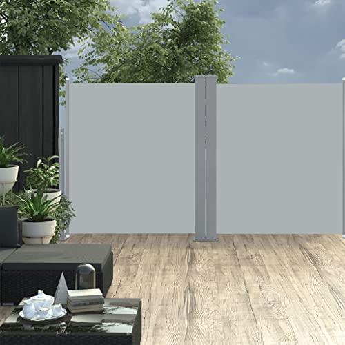 vidaXL Doppel-Seitenmarkise 170×600 cm Schwarz - 7