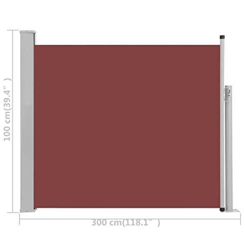 vidaXL Seitenmarkise 170×500 cm Creme - 9