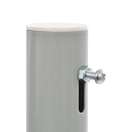 vidaXL Seitenmarkise 100×300 cm Grau - 5