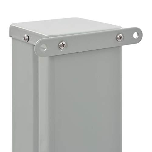 vidaXL Seitenmarkise 100×300 cm Grau - 6