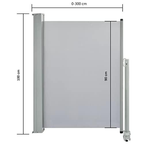 vidaXL Seitenmarkise 100×300 cm Grau - 8