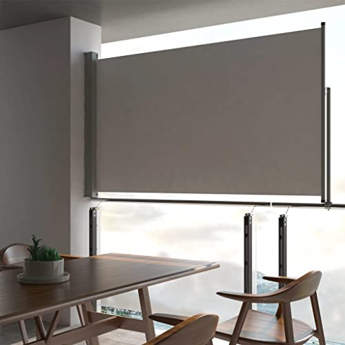 vidaXL Seitenmarkise 140×300 cm Grau - 2