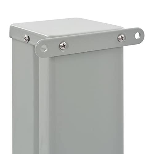 vidaXL Seitenmarkise 140×300 cm Grau - 6