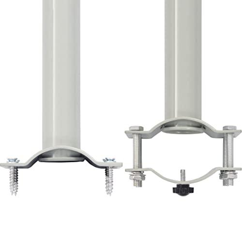 vidaXL Seitenmarkise 160×300 cm Grau - 6