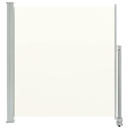 vidaXL Seitenmarkise 140x300 cm Creme