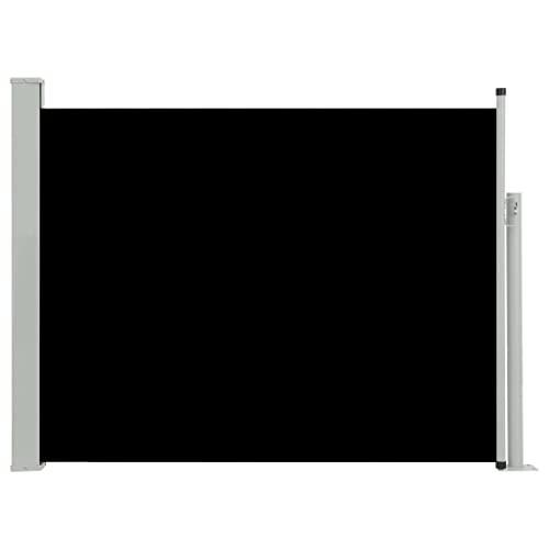vidaXL Seitenmarkise 170x500 cm Schwarz