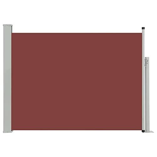 vidaXL Seitenmarkise 100x500 cm Braun