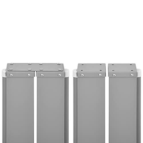 vidaXL Doppel-Seitenmarkise 160×600 cm Schwarz - 6
