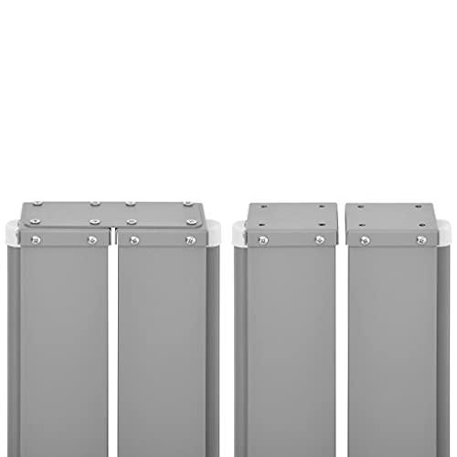 vidaXL Doppel-Seitenmarkise 160×600 cm Grau - 5
