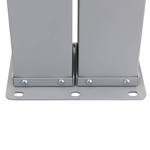 vidaXL Doppel-Seitenmarkise 160×600 cm Grau - 6