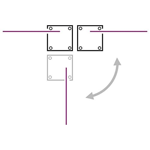 vidaXL Doppel-Seitenmarkise 160×600 cm Grau - 8