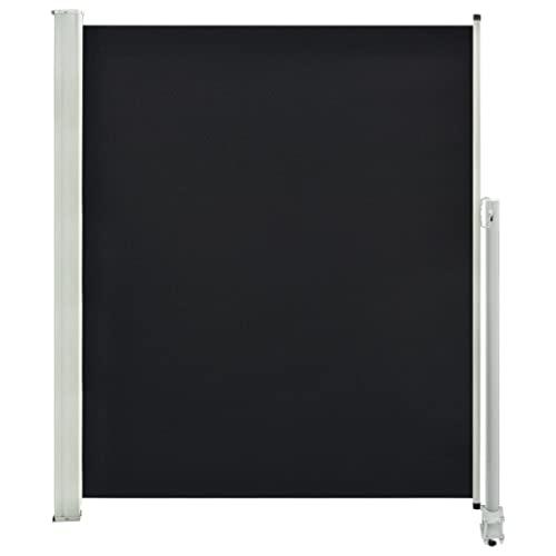 vidaXL Seitenmarkise 160x300 cm Schwarz