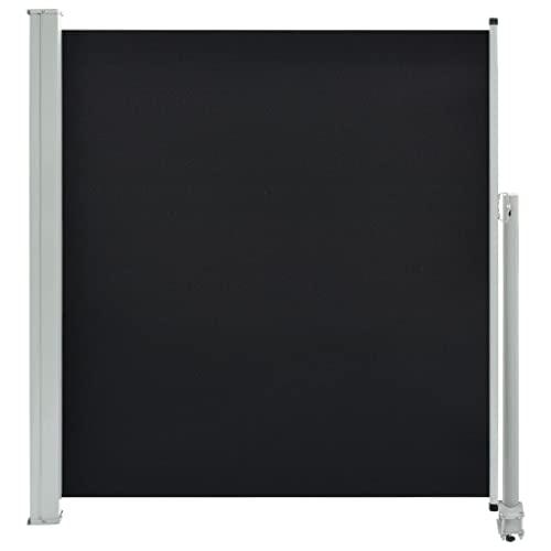 vidaXL Seitenmarkise 140x300 cm Schwarz