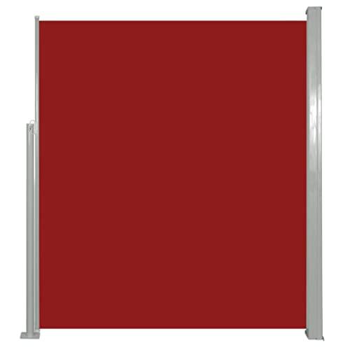 vidaXL Seitenmarkise 160x500 cm Rot