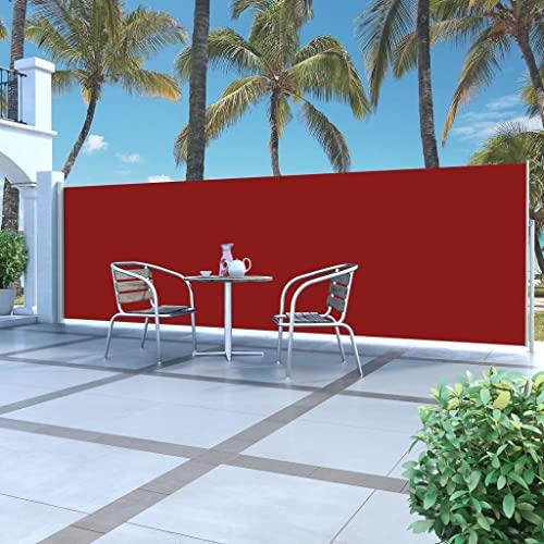 vidaXL Seitenmarkise 160×500 cm Rot - 2