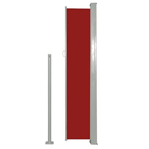 vidaXL Seitenmarkise 160×500 cm Rot - 4