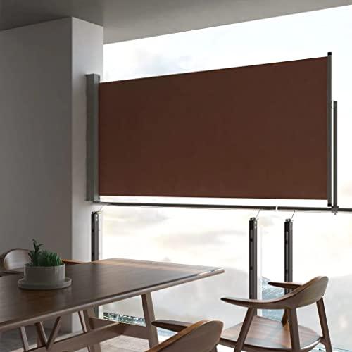 vidaXL Seitenmarkise 120x300 cm Braun