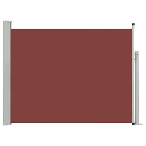 vidaXL Seitenmarkise 140x500 cm Braun