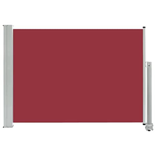 vidaXL Seitenmarkise 80x300 cm Rot