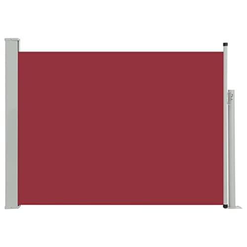 vidaXL Seitenmarkise 100x500 cm Rot