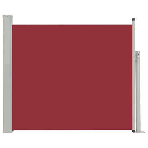 vidaXL Seitenmarkise 100x300 cm Rot