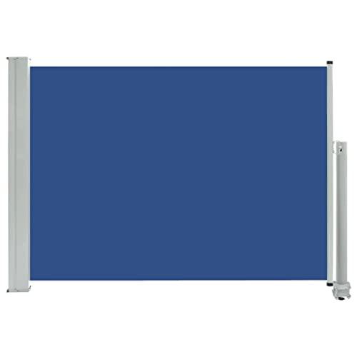 vidaXL Seitenmarkise 80x300 cm Blau
