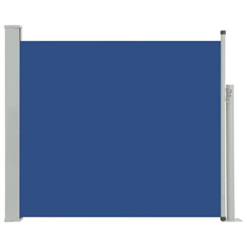 vidaXL Seitenmarkise  100x300 cm Blau