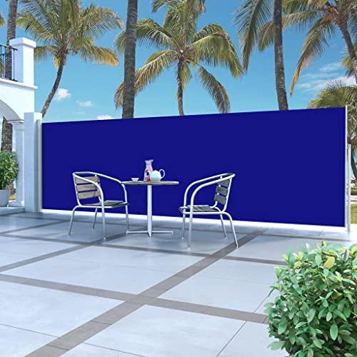 vidaXL Seitenmarkise 160×500 cm Blau - 2