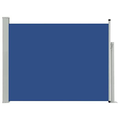 vidaXL Seitenmarkise 140x500 cm Blau