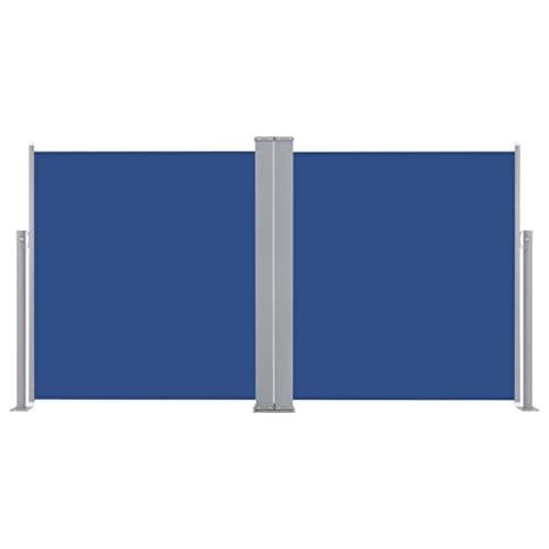 vidaXL Doppel-Seitenmarkise 170x600 cm Blau