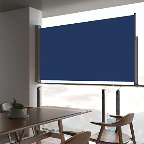 vidaXL Seitenmarkise 160×300 cm Blau - 2