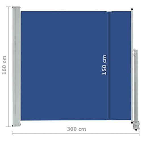 vidaXL Seitenmarkise 160×300 cm Blau - 8