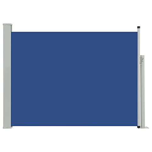 vidaXL Seitenmarkise 100x500 cm Blau