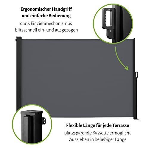 empasa Seitenmarkise Start 160×300 cm grau - 4