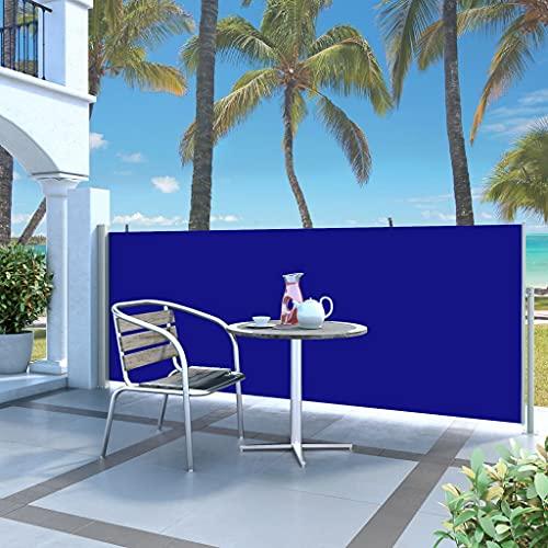 vidaXL Seitenmarkise 120x300cm Blau Sichtschutz Windschutz Sonnenschutz Balkon - 2