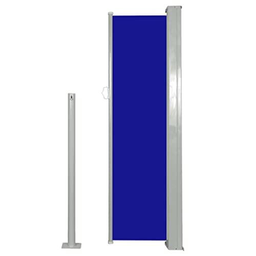 vidaXL Seitenmarkise 120x300cm Blau Sichtschutz Windschutz Sonnenschutz Balkon - 4
