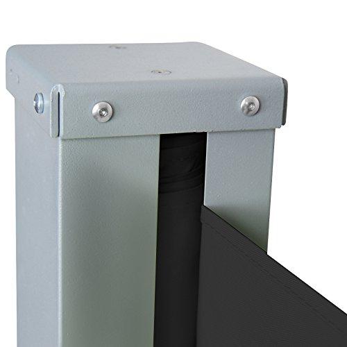 Jago Seitenmarkise 300 x 160 cm schwarz - 6