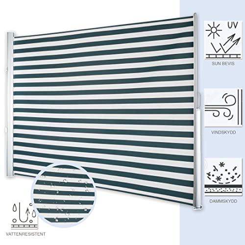 Ultranatura Seitenmarkise Maui – 300 x 180 cm, Grün/Weiß - 4