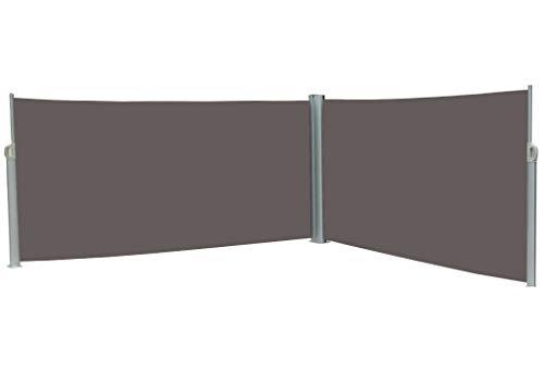 vanvilla Doppel-Seitenmarkise Anthrazit 160x600 cm