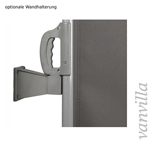 vanvilla Doppel-Seitenmarkise Anthrazit 160×600 cm - 4