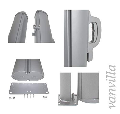 Vanvilla Doppel-Seitenmarkise Anthrazit 200×600 cm - 3