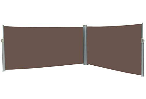 vanvilla Doppel-Seitenmarkise Braun 200x600 cm