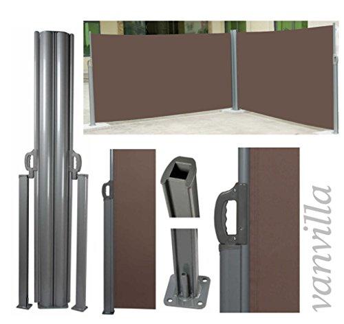 vanvilla Doppel-Seitenmarkise Braun 180×600 cm - 2