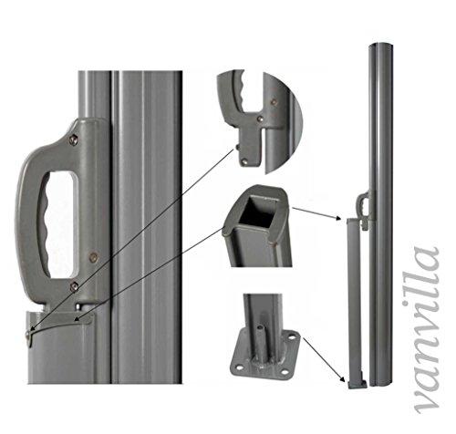 vanvilla Doppel-Seitenmarkise Braun 180×600 cm - 3