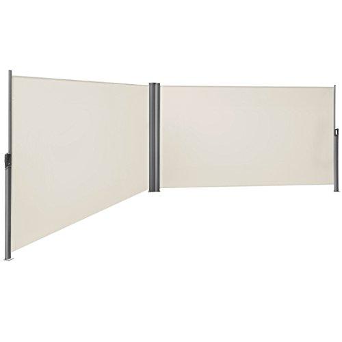 Songmics Doppel-Seitenmarkise 180 x 600 cm beige