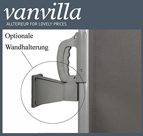 Vanvilla Balkon Seitenmarkise Anthrazit 120×300 cm - 4