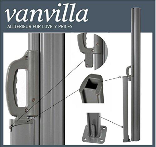Vanvilla Balkon Seitenmarkise Anthrazit 120×300 cm - 5