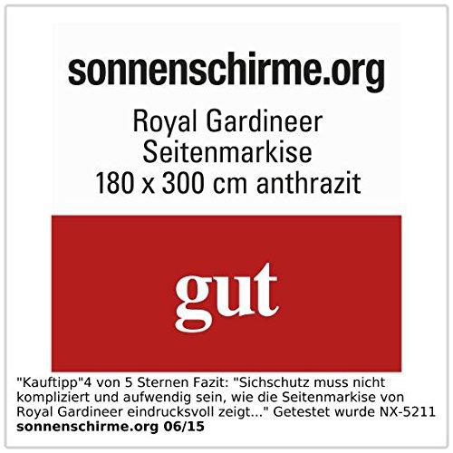 Royal Gardineer Seitenmarkise 120 x 200 cm anthrazit - 3